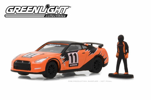 2011 Nissan GT-R (R35) with Race Car Driver