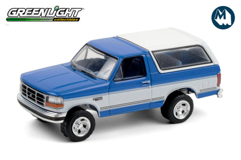 1992 Ford Bronco XLT - Bright Regatta Blue and White
