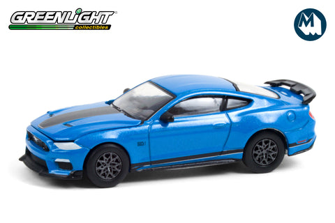 2021 Ford Mustang Mach 1 - Velocity Blue with Black Stripe