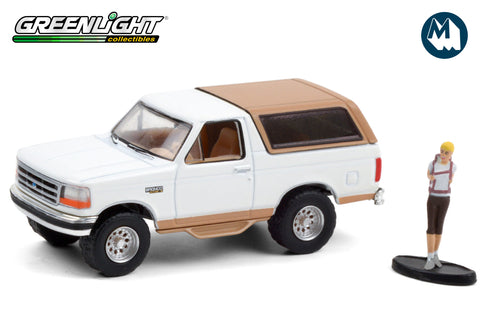 1996 Ford Bronco Eddie Bauer with Backpacker - Oxford White and Light Saddle
