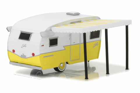 Shasta Airflyte (White & Yellow with Awning)