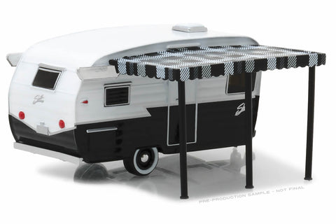 Shasta Airflyte - Black and White with Awning