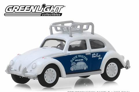 "Classic Volkswagen Beetle with Roof Rack ""Flat Four Specialists"""