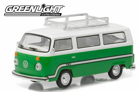 1977 Volkswagen Type 2 Bus - Sumatra Green with Roof Rack & Stripes