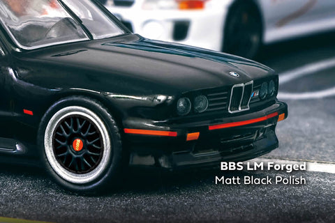 Tarmac Works - 1/64 BBS LM Forged Matt Black Polish