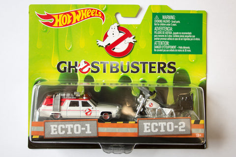 Hot Wheels Ghostbusters Ecto-1 & Ecto-2 Twin Pack
