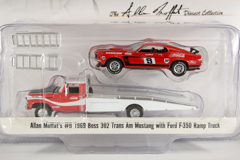 Allan Moffat's #9 1969 Boss 302 Trans Am Mustang with Ford F-350 Ramp Truck