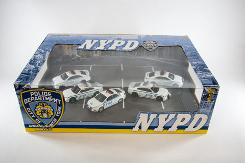 [Green Machine] 5 Car NYPD Diorama