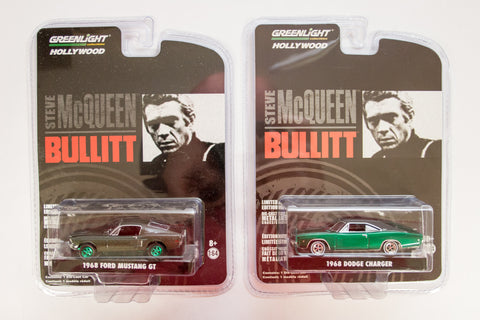 [Green Machine] 1968 Dodge Charger R/T & 1968 Ford Mustang GT Fastback (Bullitt)