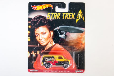 Hot Wheels Pop Culture 2016 Star Trek 50th Anniversary - Ford Transit Supervan / Nyota Uhura