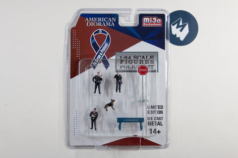 1:64 American Diorama Police Figures Set (AD-38402)