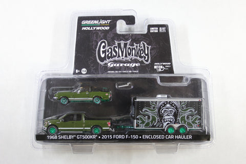 [Green Machine] Gas Monkey Garage / 2015 Ford F-150 with 1968 Shelby GT500KR Convertible in Enclosed Car Hauler