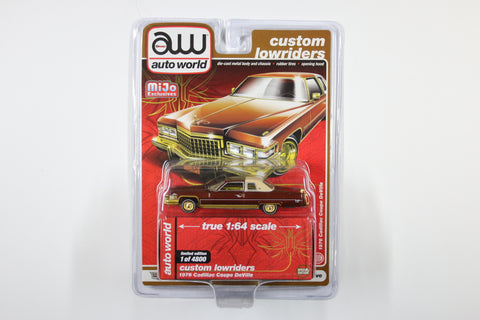 1976 Cadillac Coupe DeVille - Custom Lowriders (Red & Gold)