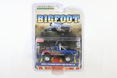 Bigfoot #1 The Original Monster Truck / 1974 Ford F-250 (Blue & Red Edition)