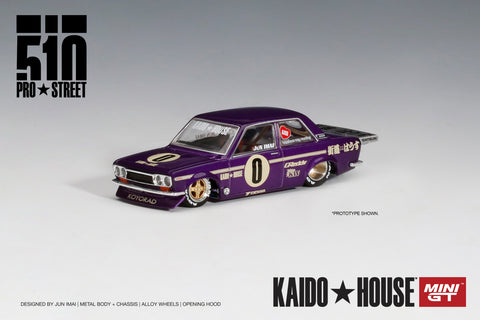 Datsun 510 Pro Street - KAIDO★HOUSE x MINI GT (OG Purple)