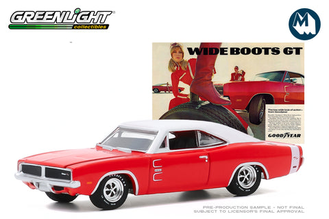 "1969 Dodge Charger - Wide Boots GT ""The low, wide look of action from Goodyear"""