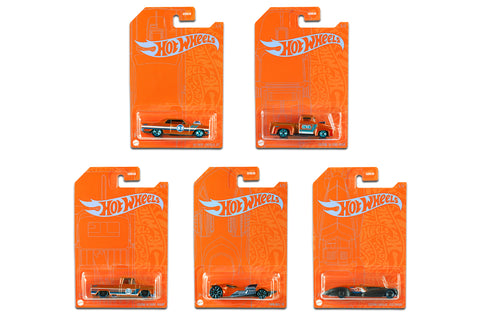 Hot Wheels Orange and Blue Series - Set of 5