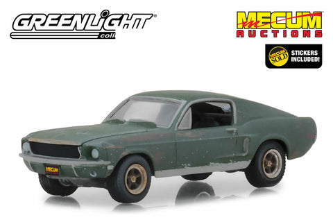 Mecum Auctions Collector Cars - Unrestored Bullitt 1968 Ford Mustang GT Fastback - Kissimmee 2020