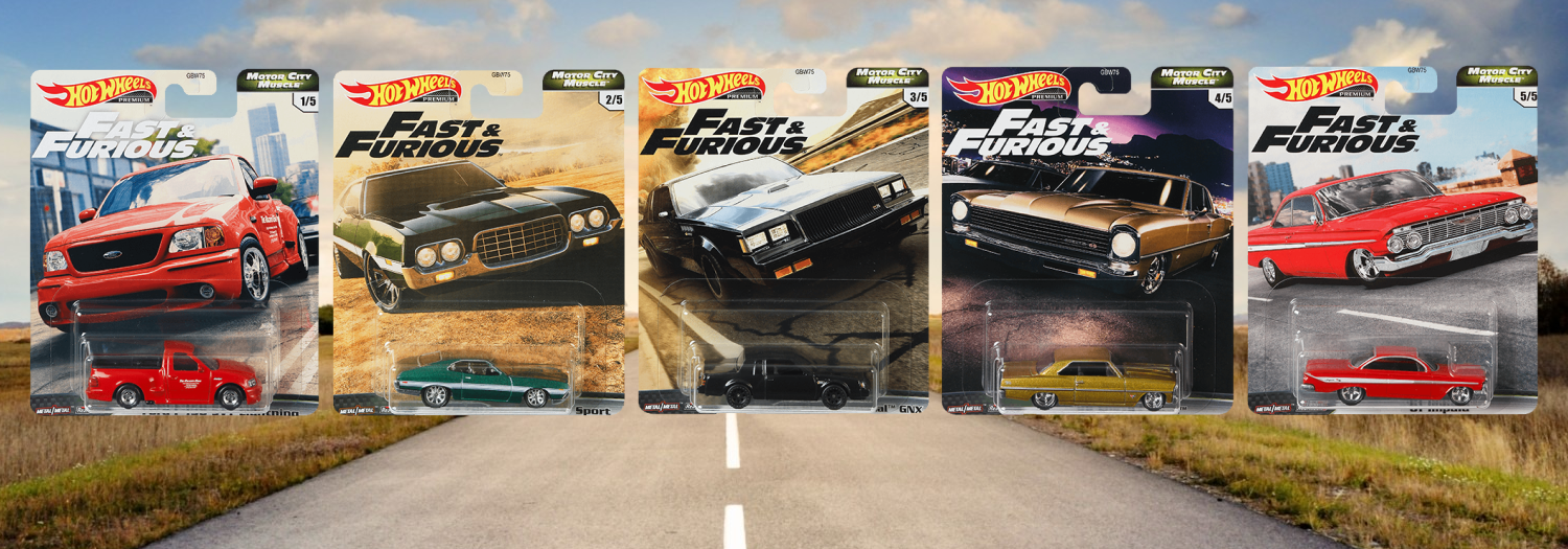 Hot Wheels Fast & Furious Motor City Muscle
