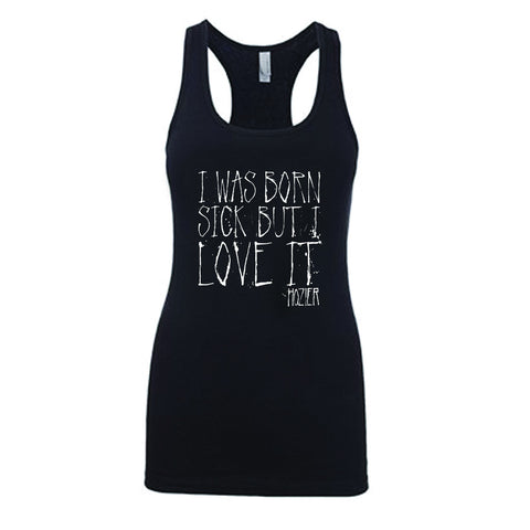Hozier Born Sick Lyric Tank in Black