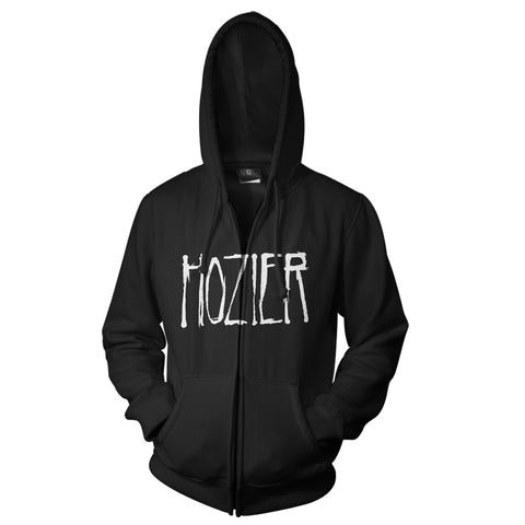 Hozier Logo Black Zip Hooded Sweatshirt