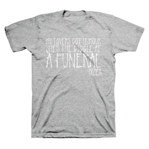 Hozier Funeral T-Shirt in Heather Grey