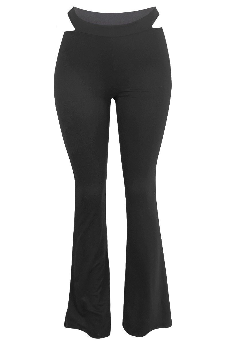 Ashanti Cut Out Flare Pants - Style Delivers