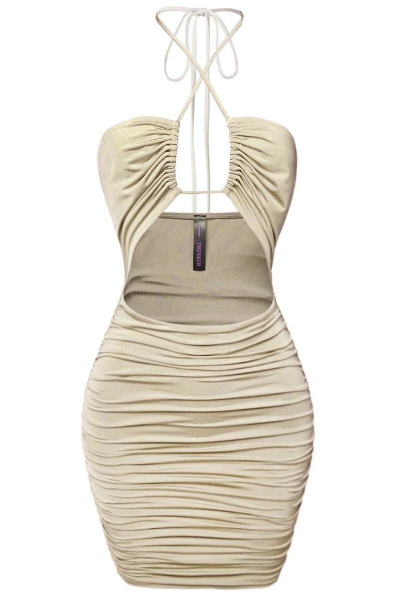 Magic Hour Mini Dress Sand RESTOCKED! - Style Delivers