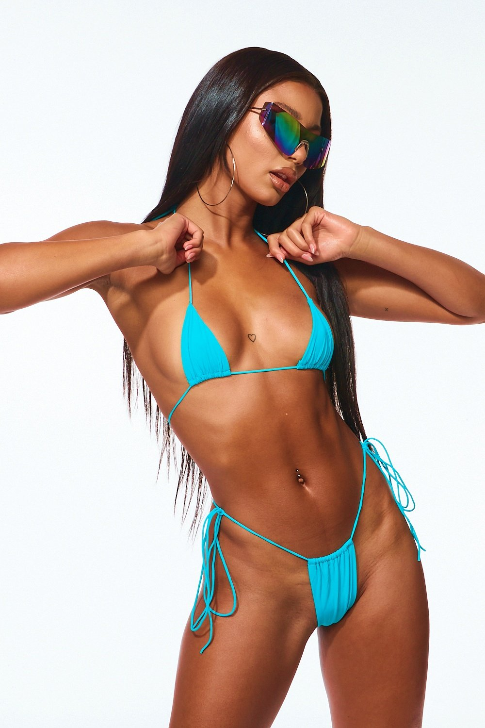 Itsy Bitsy Micro String Bikini Turquoise - Style Delivers