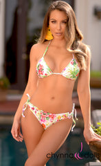Hermosa: Double String Bathing Suit in Spring Bouquet - Chynna Dolls Swimwear