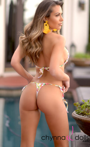 Rio: T-Back Thong Swimsuit in Spring Bouquet - Chynna Dolls