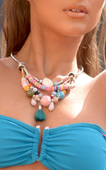 NECKLACE: Multicolored Statement Necklace - Chynna Dolls Swimwear