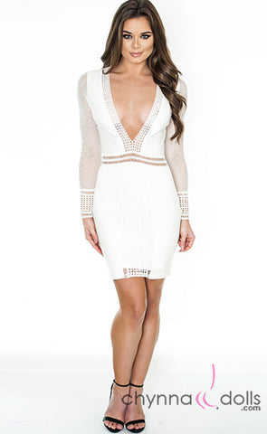 Keira: Bodycon Long-Sleeved Minidress - $38.99