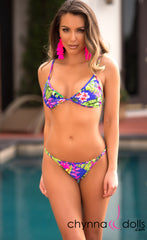 Laguna: String Bathing Suit in Butterfly Tropical - Chynna Dolls