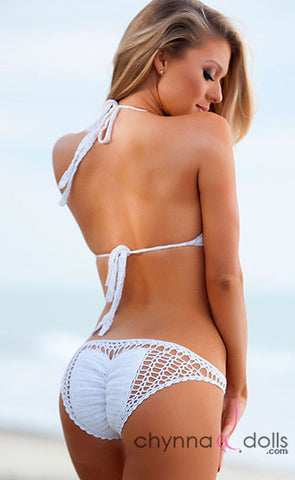 Acapulco: Crochet One-Piece in White