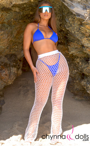 Renee: Crochet Net High Waisted Pants - Chynna Dolls Swimwear