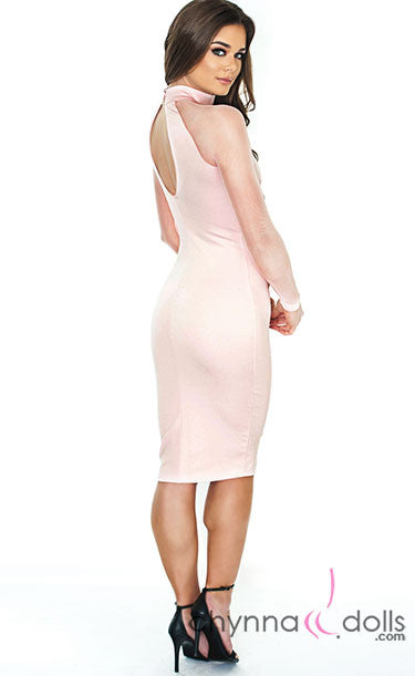 Olivia: Bodycon Midi with Mesh Detailing