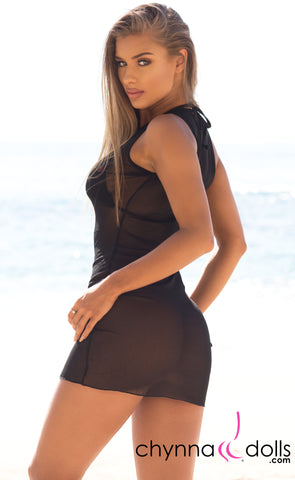 Lana: Mesh Cover-up Dress - Chynna Dolls Swimwear