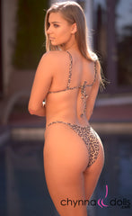 Sorrento: High Cut Bathing Suit in Leopard