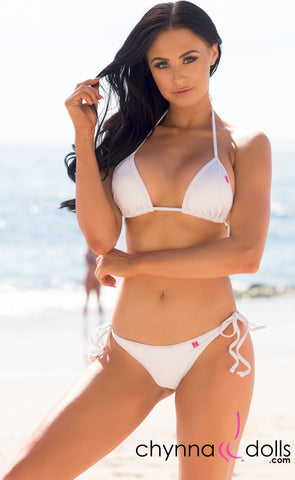 Laguna: String Swimsuit in Solid White - Chynna Dolls