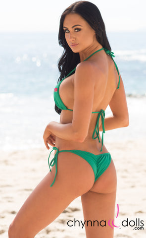 Venice: Micro Bikini in Solid Emerald Green - Chynna Dolls Swimwear
