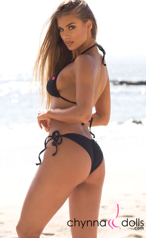 Laguna: String Bikini in Solid Black - Chynna Dolls Swimwear