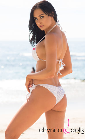 Laguna: String Swimsuit in Solid White - Chynna Dolls Swimwear