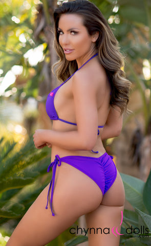 Laguna: String Bikini in Solid Orchid Purple - Chynna Dolls Swimwear