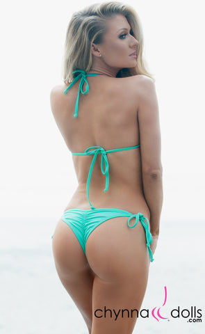 Venice: Micro Swimsuit in Solid Mint Green