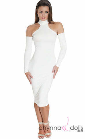 Kyla: Bodycon Midi Dress