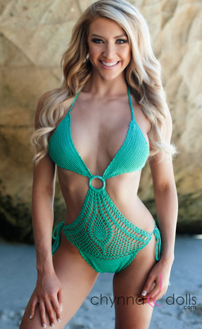 Crochet 1 PC in Lagoon Green