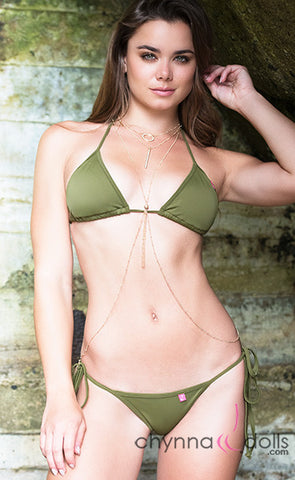 3 Tier Gold Harness Body Chain - Chynna Dolls Swimwear