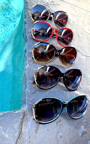 Oversized Retro Sunnies - Chynna Dolls Swimwear