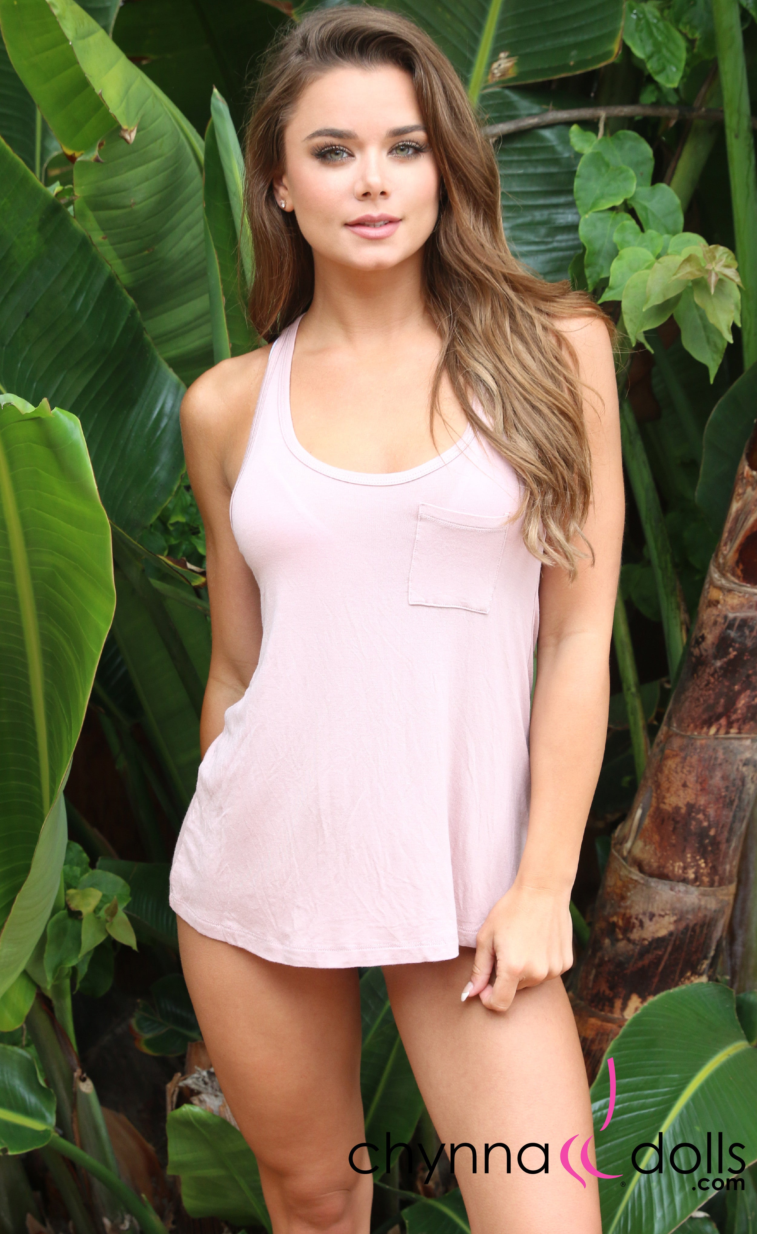 Summer Tank Top: Basic Solid Color in Mauve - Chynna Dolls Swimwear